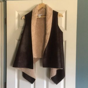 LF/Bluette Faux Suede and Shearling Vest